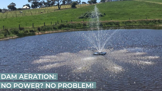 Dam Aeration - No Power? No Problem - Solar Aeration Solutions for lakes, dams and other large water bodies